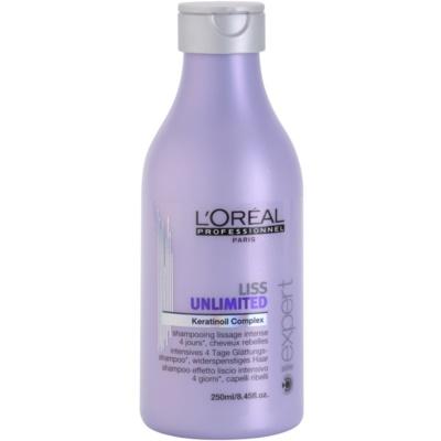 champô alisante para cabelos crespos e inflexíveis