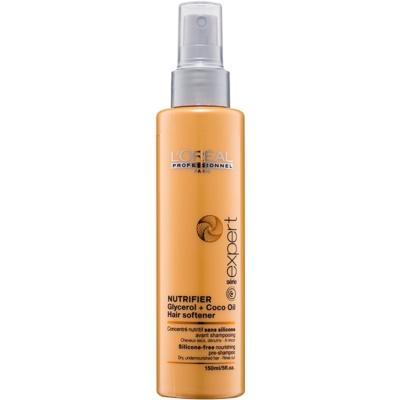 грижа за използване преди нанасянето на шампоан за суха и увредена коса