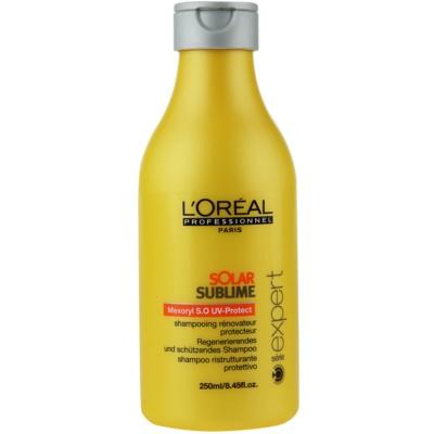szampon regenerujący do włosów narażonych na szkodliwe działanie promieni słonecznych