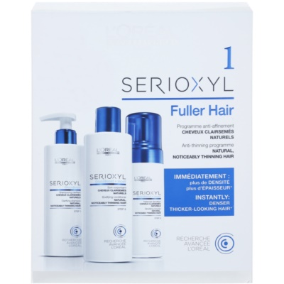 L'Oréal Professionnel Serioxyl GlucoBoost + Incell Fuller Hair Cosmetic Set I. (For Thinning Hair)