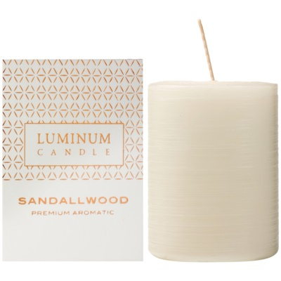 Luminum Candle Premium Aromatic Sandalwood Geurkaars   Medium  (Ø 60 - 80 mm, 32 h)