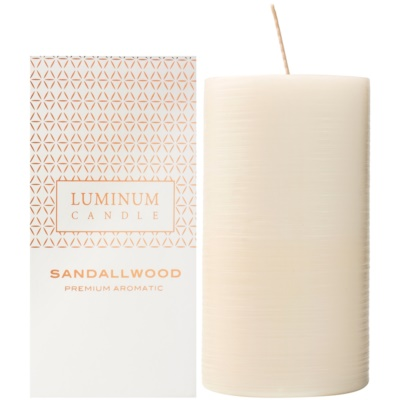 Luminum Candle Premium Aromatic Sandalwood Scented Candle   Large (Ø 70 - 130 mm, 65 h)