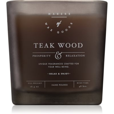 Makers of Wax Goods Teak Wood scented candle
