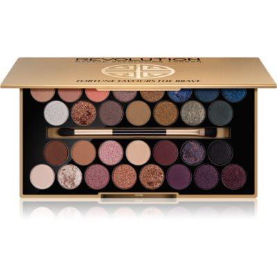 Makeup Revolution Fortune Favours the Brave paleta farduri de ochi cu oglindă si aplicator  16 g