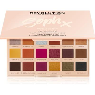 Makeup Revolution Soph X Extra Spice παλέτα με σκιές ματιών με καθρέπτη