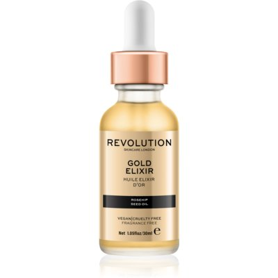 Makeup Revolution Skincare Gold Elixir еліксир для шкіри з екстрактом шипшини