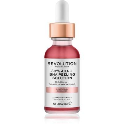 Makeup Revolution Skincare 30% AHA + BHA Peeling Solution  інтенсивний хімічний пілінг для сяючої шкіри