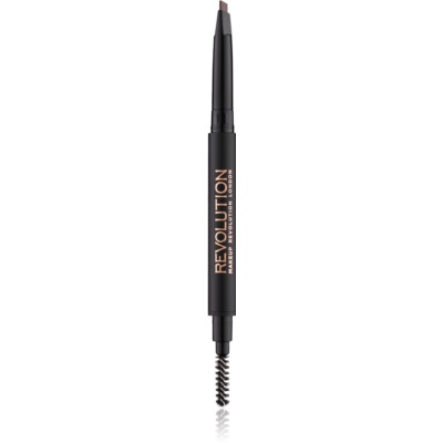 Makeup Revolution Duo Brow Definer pincel de precisión para cejas