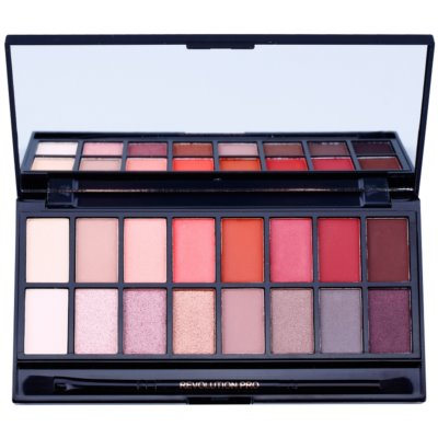Makeup Revolution New-Trals vs Neutrals παλέτα με σκιές ματιών με καθρέπτη και εφαρμοστή