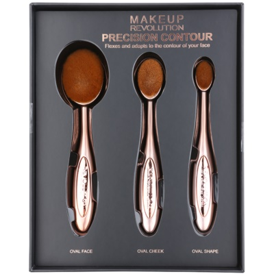 Makeup Revolution Pro Precision Brush σετ με πινέλα για περίγραμμα