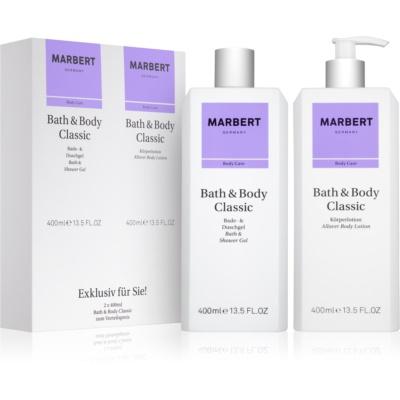 Marbert Bath & Body Classic Geschenkset II.  Duschgel 400 ml + Körperlotion 400 ml