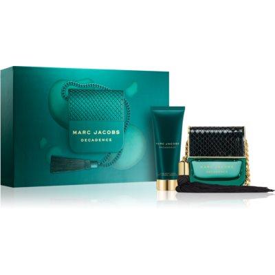 Marc Jacobs Decadence dárková sada IV.  parfémovaná voda 50 ml + tělové mléko 75 ml