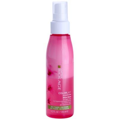 Glanzspray für gefärbtes Haar