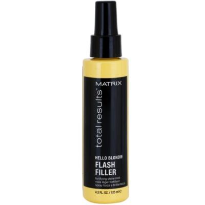abspülfreies Spray für blonde Haare