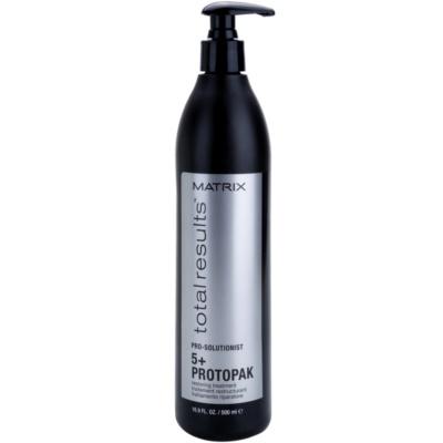 obnovující péče pro poškozené, chemicky ošetřené vlasy