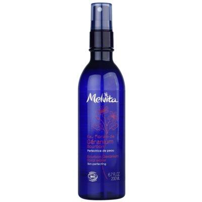 Melvita Eaux Florales Géranium Bourbon Gezichtswater in Spray  voor Perfecte Huid