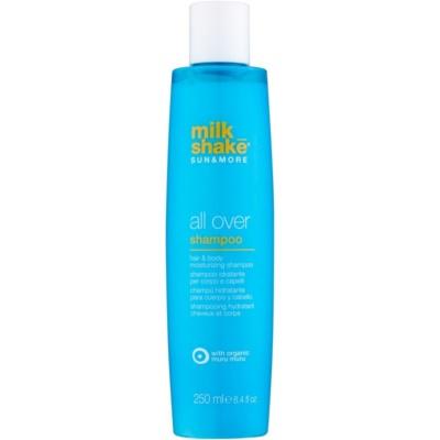 Milk Shake Sun & More champú hidratante de cabello y cuerpo