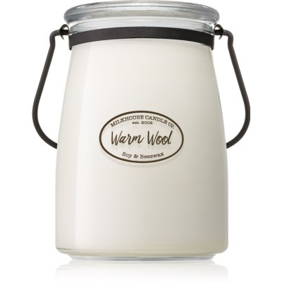 Milkhouse Candle Co. Creamery Warm Wool vela perfumada   Butter Jar