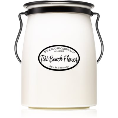 Milkhouse Candle Co. Creamery Tiki Beach Flower vela perfumada  Butter Jar