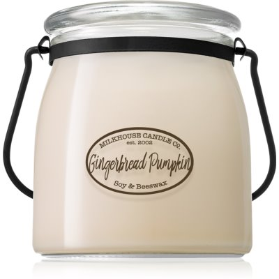 Milkhouse Candle Co. Creamery Gingerbread Pumpkin geurkaars Butter Jar