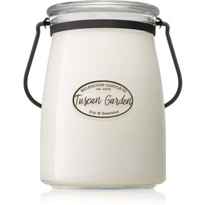 Milkhouse Candle Co. Creamery Tuscan Garden vonná sviečka  Butter Jar