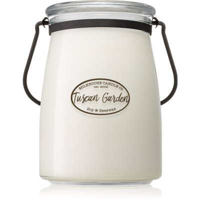 Milkhouse Candle Co. Creamery Tuscan Garden Scented Candle  Butter Jar