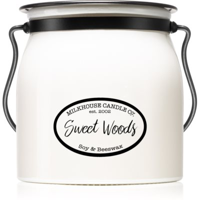 Milkhouse Candle Co. Creamery Sweet Woods vela perfumada   Butter Jar