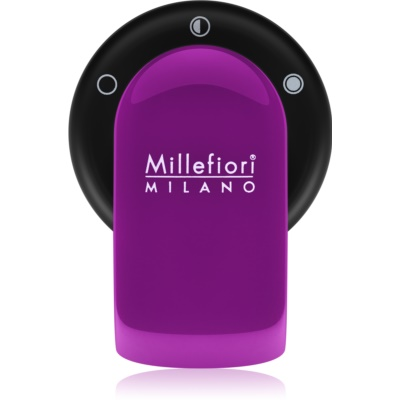 Millefiori GO držalo za dišavo za avto   s polnilom Viola (Sandalo Bergamotto)