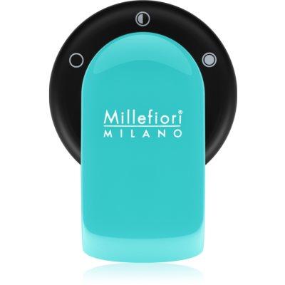 Millefiori GO поставка за ароматизатор за автомобил   с пълнител Acquamarina (Sandalo Bergamotto)