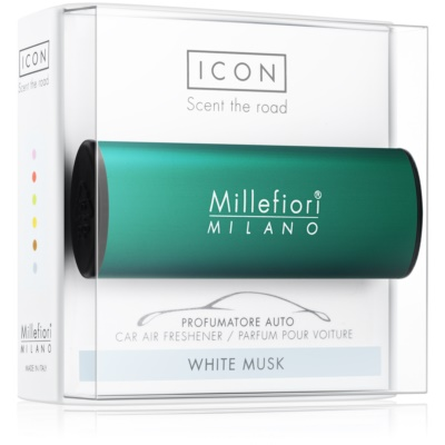Millefiori Icon White Musk Car Air Freshener   Classic