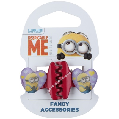 Minions Accessories Dave Hair Clips In Heart Shape