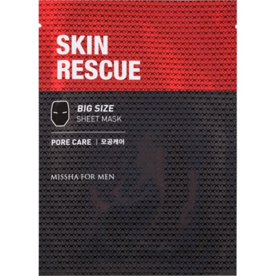 Missha For Men Skin Rescue platynowa maska z oczyszczającym efektem dla mężczyzn