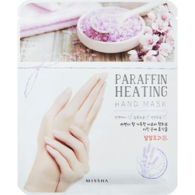 máscara de parafina para as mãos com efeito de aquecimento