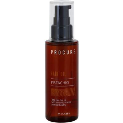 pistáciový vlasový olej pro zdravý vzhled