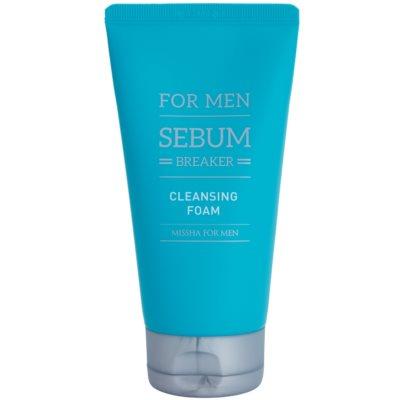 Missha For Men Sebum Breaker почистваща пилинг пяна за мазна кожа