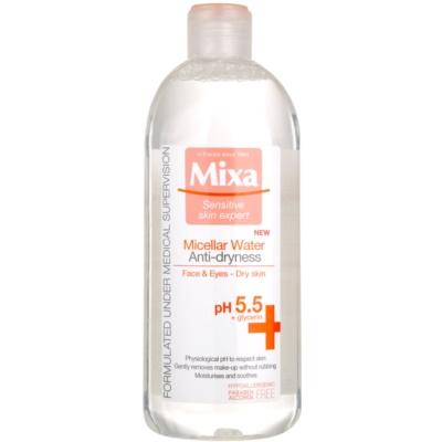 mizellares Wasser gegen das Austrocknen der Haut
