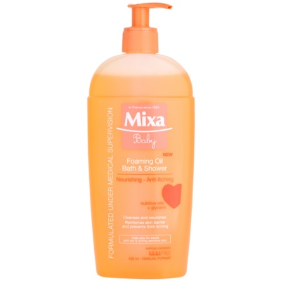 MIXA Baby aceite de baño y ducha espumizantes