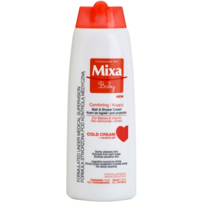MIXA Baby Gentle Shower and Bath Cream for Kids