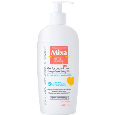 MIXA Baby Shower Gel And Shampoo 2 In 1 For Kids