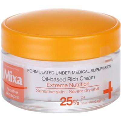 MIXA Extreme Nutrition crème riche nourrissante à l'huile d'onagre et ingrédients hydratants
