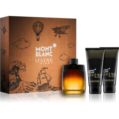 Montblanc Legend Night set cadou III  Eau de Parfum 100 ml + After Shave Balsam 100 ml + Gel de dus 100 ml