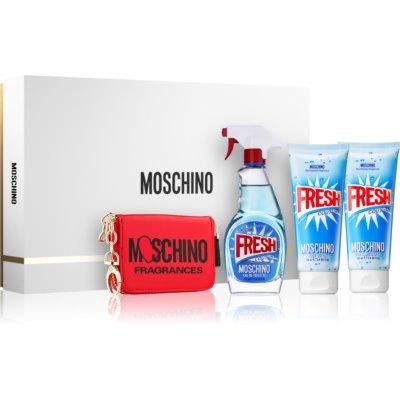 Moschino Fresh Couture подаръчен комплект VII. тоалетна вода 100 ml + гел за душ и вана 100 ml + мляко за тяло 100 ml + портмоне