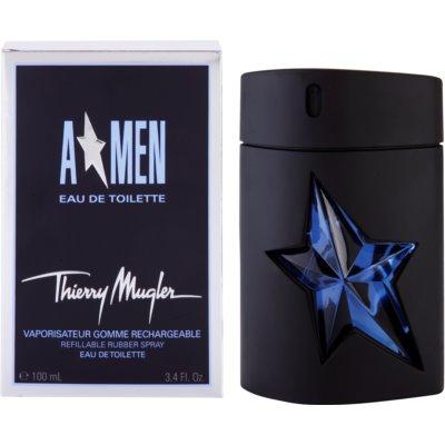 eau de toilette férfiaknak  utántölthető Rubber Flask