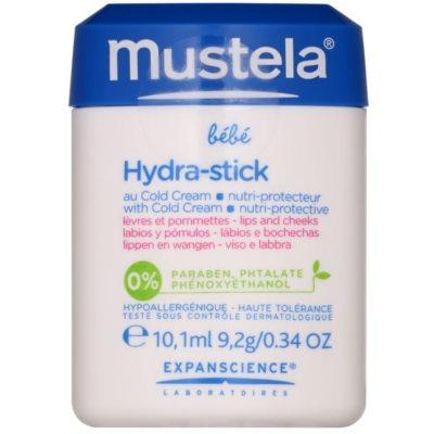 Mustela Bébé Hydra Stick захисний зволожуючий стік для губ та щік для дітей