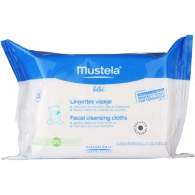 Mustela Bébé Toillete καθαριστικά μαντηλάκια  Για το πρόσωπο