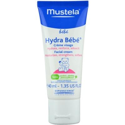 Mustela Bébé Hydra Bébé хидратиращ крем за лице за деца от раждането им