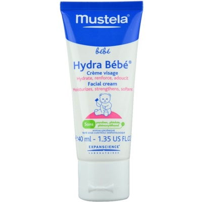 Mustela Bébé Hydra Bébé Moisturizing Cream For Face For Children From Birth