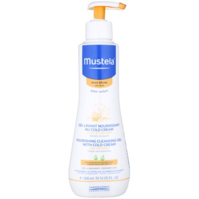 Mustela Bébé Dry Skin Nourishing Cleansing Gel with Skin Barrier Cream  For Children From Birth