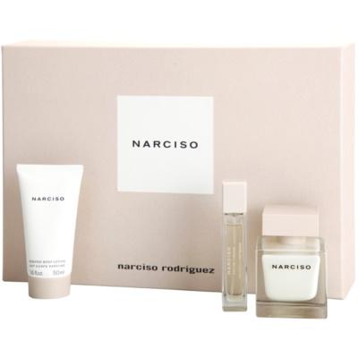 Narciso Rodriguez Narciso poklon set I.  parfemska voda 50 ml + parfemska voda 10 ml + mlijeko za tijelo 50 ml