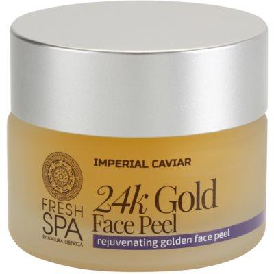 verjüngendes Hautpeeling mit 24 Karat Gold